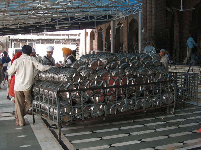 plates for langar at golden temple amritsar The Kitchen at the Golden Temple Feeds up to 100,000 People a Day for Free