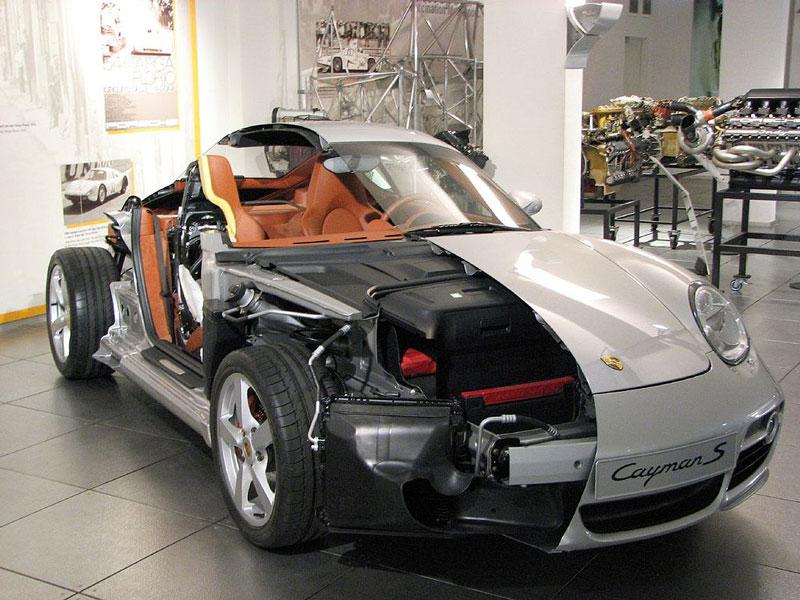 porsche cayman s cutaway 15 Amazing Car Cutaways