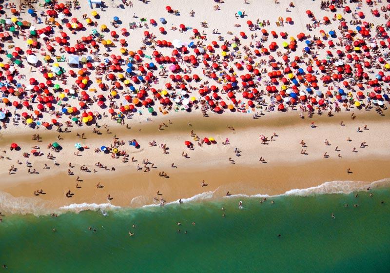 rio de janeiro horizontal aerial maison gray Beaches Around the World Seen from Above