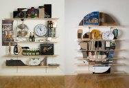 Neatly Arranged Shelves That Look Like Skulls