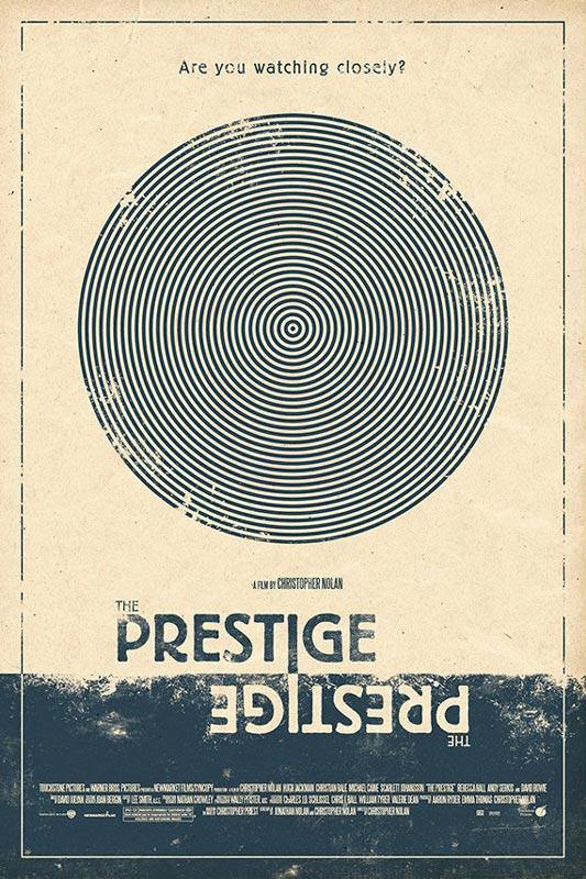 the prestige alternate movie poster by adam rabalais Creative Alternate Movie Posters by Adam Rabalais
