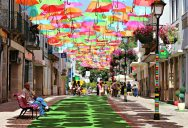 Picture of the Day: The Umbrella Covered Walkway in Portugal