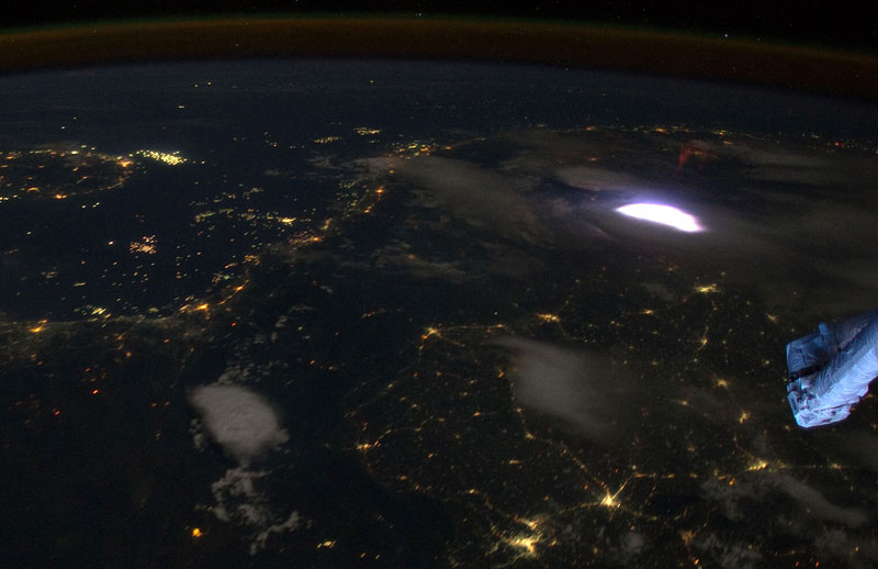 what lightning looks like from space Picture of the Day: What Lightning Looks Like From Space