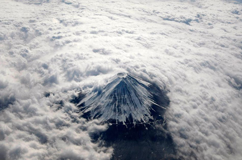 aerial mount fuji from above the clouds The Top 75 Pictures of the Day for 2012