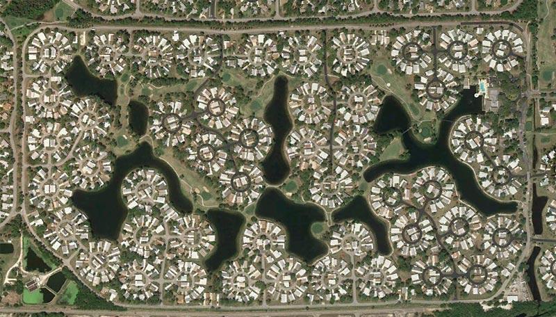 aerial patterns of human housing developments on google maps 17 Patterns of Human Development Found on Google Maps