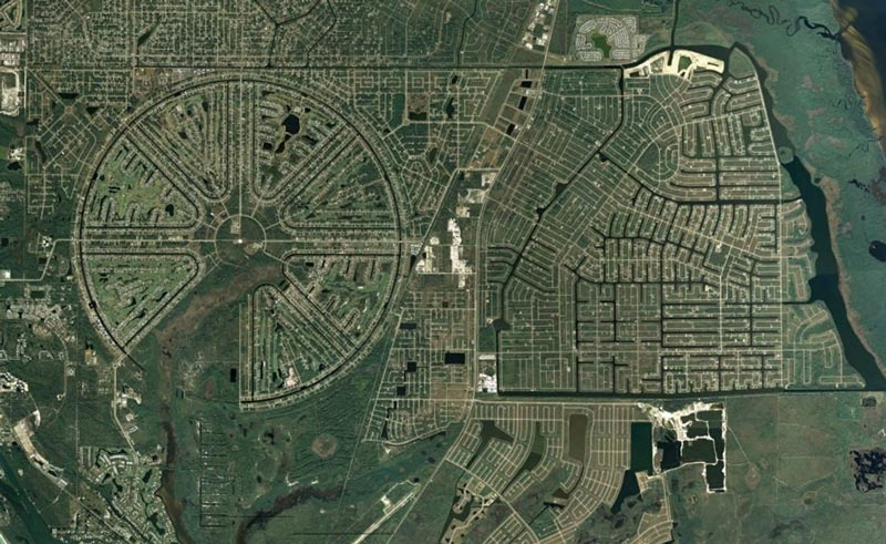 aerial patterns of human housing developments on google maps 4 Patterns of Human Development Found on Google Maps