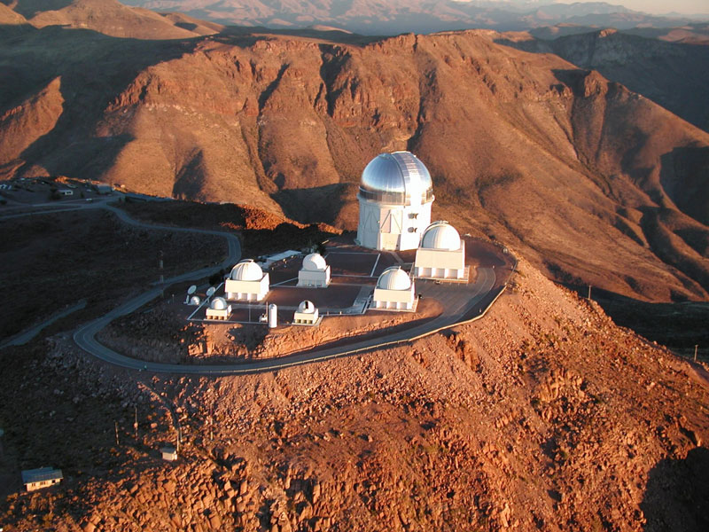 aerial photograph of ctio cerro tololo chile featuring blanco 4 meter and smarts telescopes The Most Powerful Digital Camera in the World