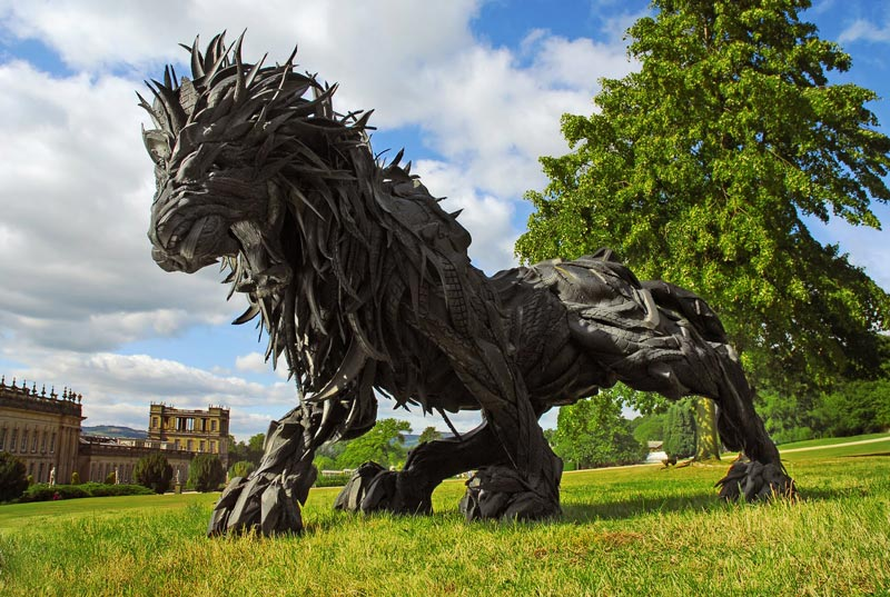 animals made from tires by yong ho ji 16 Shattered Glass Animal Sculptures by Marta Klonowska