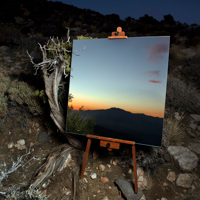 desert landscape portraits using a mirror and easel daniel kukla 2 Desert Landscape Portraits Using a Mirror and Easel