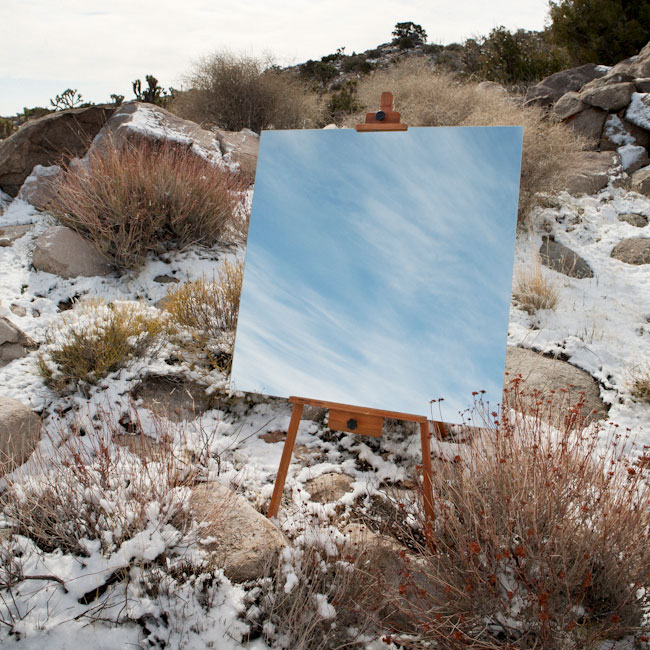 desert landscape portraits using a mirror and easel daniel kukla 4 Desert Landscape Portraits Using a Mirror and Easel