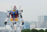 A Full Scale Gundam Model in Japan