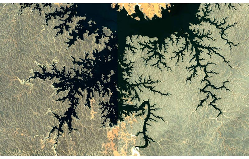 Fractal Patterns in Nature Found on Google Earth