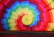 Picture of the Day: Inflating a Hot Air Balloon