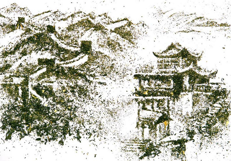 landscapes made from dried tea leaves show teas origin andrew gorkovenko 9 Beautiful Landscapes Made from Dried Tea Leaves