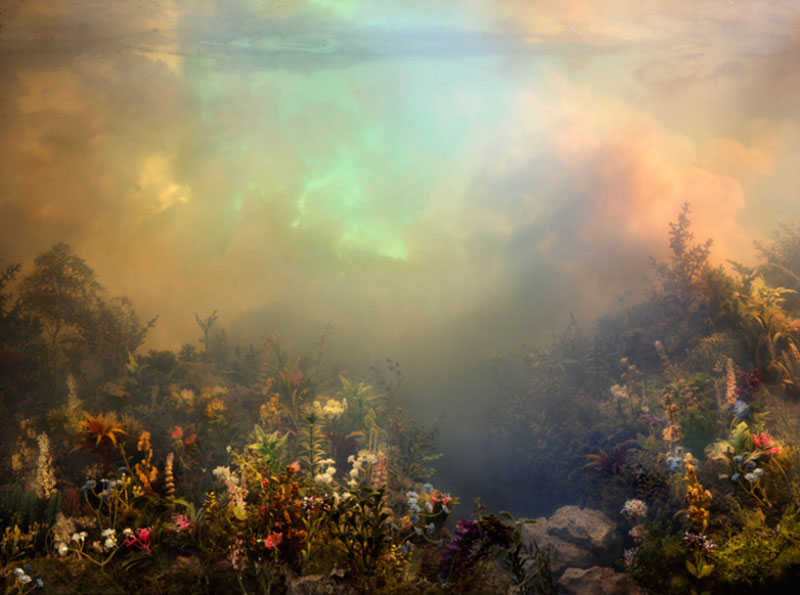 mini landscapes inside a tank that looks like paintings kim keever 6 Amazing Model Landscapes That Look Like Paintings