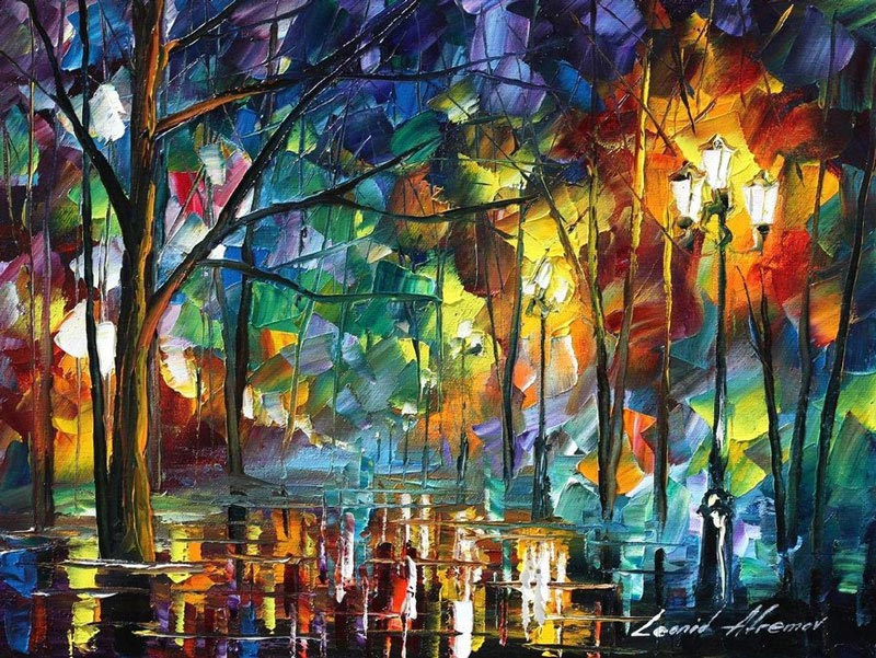 oil painting using only a paltete knife leonid afremov 5 Breathtaking Oil Paintings Using Only a Palette Knife