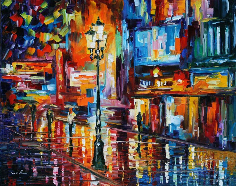 oil painting using only a paltete knife leonid afremov 9 Breathtaking Oil Paintings Using Only a Palette Knife