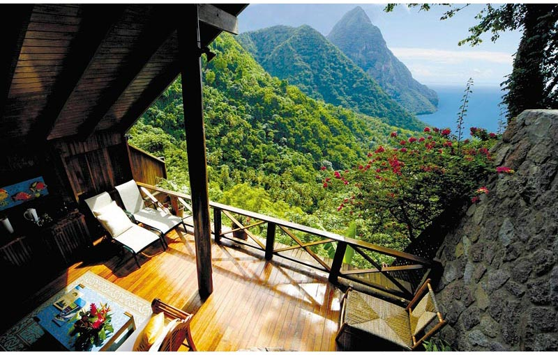 The 'Open Wall' Resort in St. Lucia [20 pics]