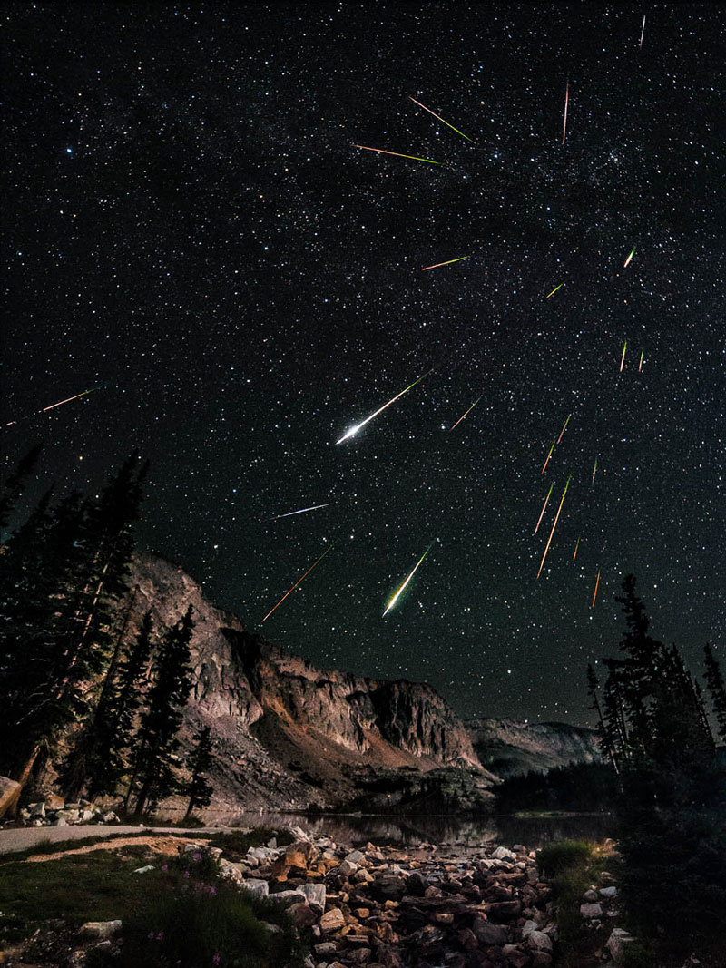 perseid meteor shower snowy range wyoming Picture of the Day: The Perseids Meteor Shower