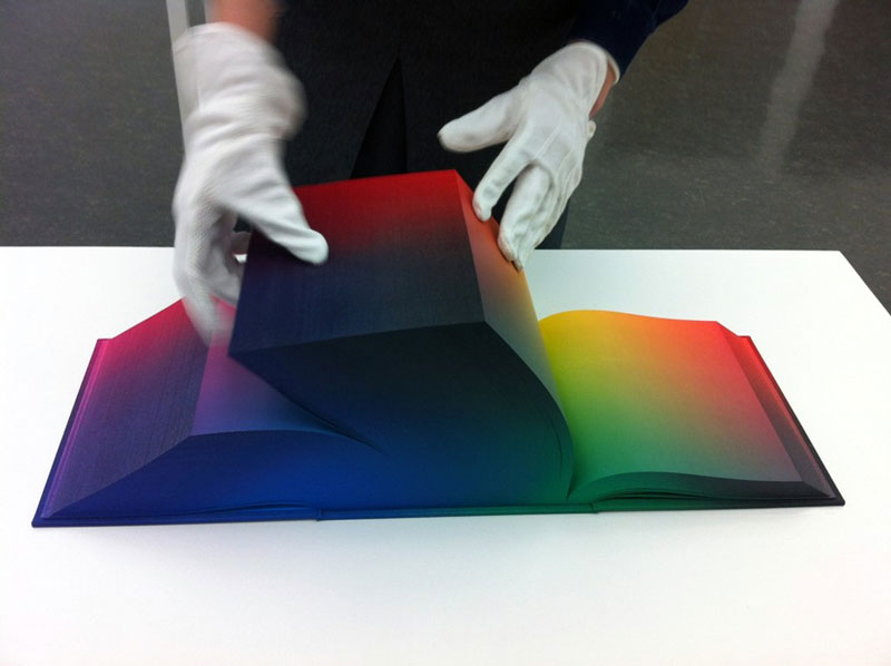 printed hardcover rgb color book tauba auerbach 2 Printed Book Attempts to Display Every RGB Color Combination