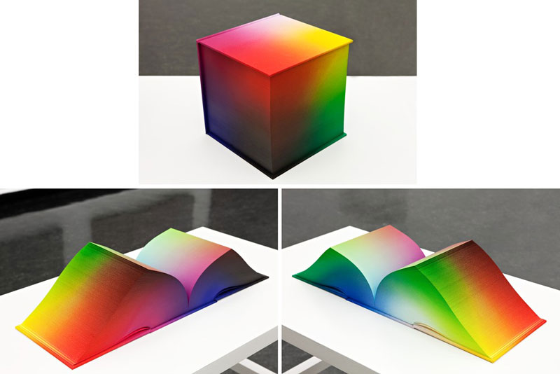printed hardcover rgb color book tauba auerbach 4 Printed Book Attempts to Display Every RGB Color Combination
