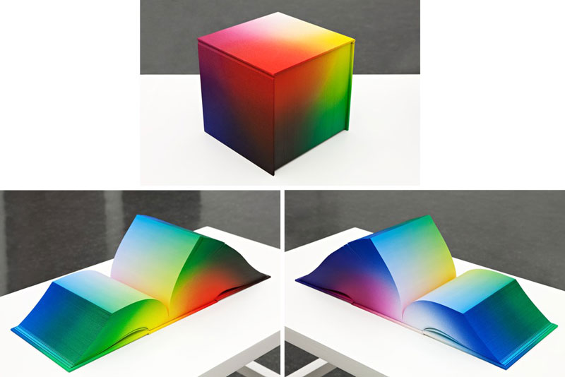printed hardcover rgb color book tauba auerbach 5 Printed Book Attempts to Display Every RGB Color Combination