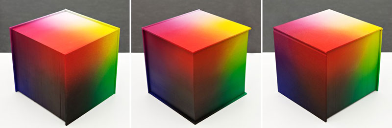 printed hardcover rgb color book tauba auerbach 7 Printed Book Attempts to Display Every RGB Color Combination