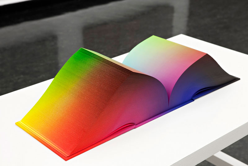 printed hardcover rgb color book tauba auerbach 8 Printed Book Attempts to Display Every RGB Color Combination