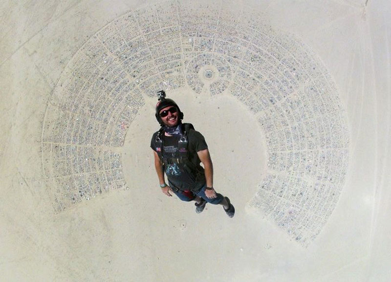 skydiving into burning man 2012 The Top 75 Pictures of the Day for 2012