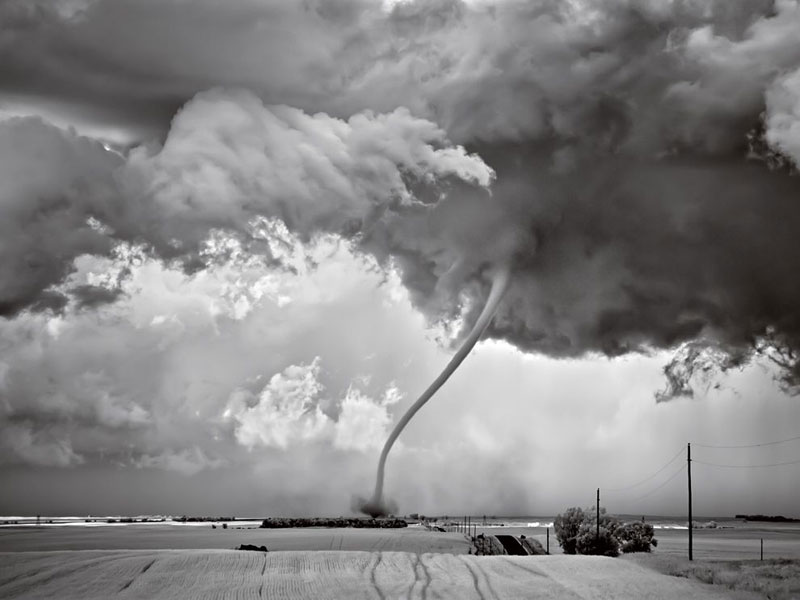 tornado roping out in north dakota mitch dobrowner Picture of the Day: A Tornado Roping Out in North Dakota