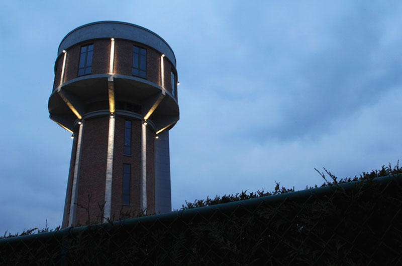 water tower house conversion belgium bham design studio 2 Belgium Water Tower Converted into Single Family Home