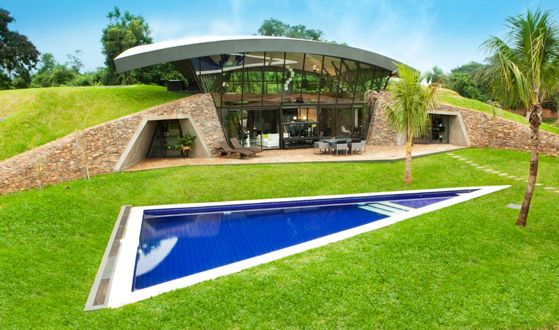 bauen architects hillside home built into landscape paraguay 15 A Green Oasis in the Heart of Singapore