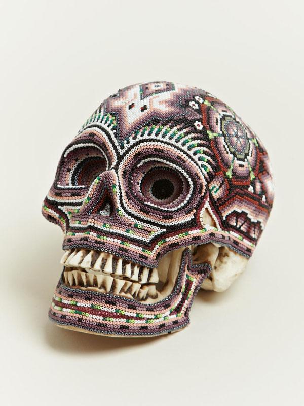 beaded skulls huichol people of mexico 3 Amazing Native Mexican Beaded Skulls