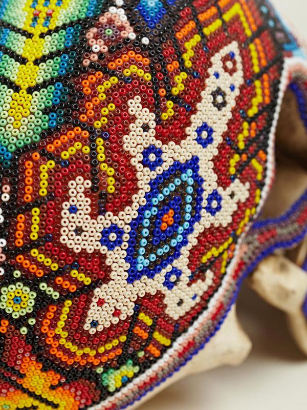 beaded skulls huivhol people of mexico 8 Amazing Native Mexican Beaded Skulls
