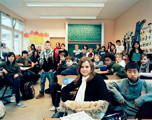 germany dc3bcsseldorf year 7 english classroom portraits julian germain 18 Classroom Portraits Around the World