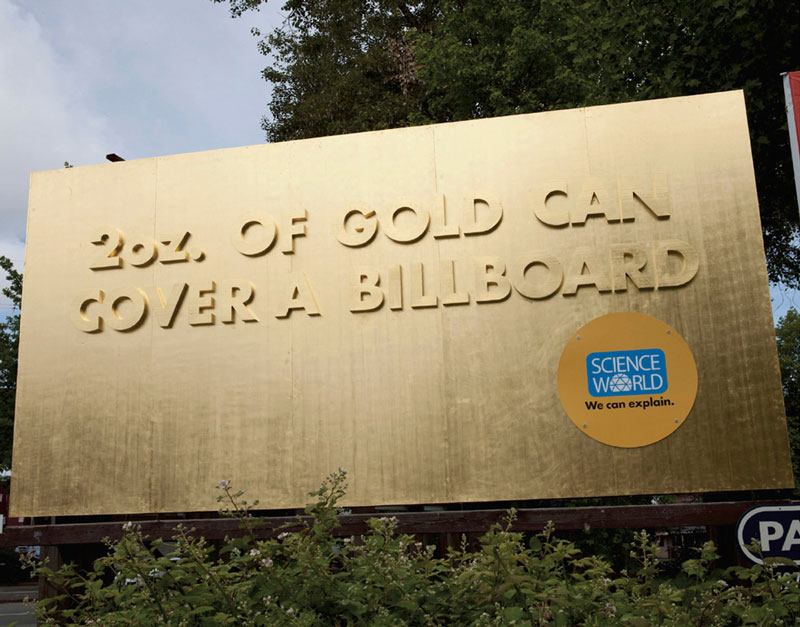 interesting science facts on billboards science world vancouver bc outdoor ooh ads rethink 19 This Pizza Box Turns Your Smartphone Into a Movie Projector