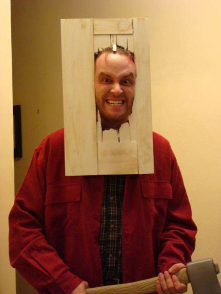 jack torrance the shining halloween costume 23 Funny and Creative Halloween Costumes