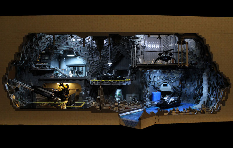 Builders Recreate the Bat Cave Using 20,000 Pieces of LEGO
