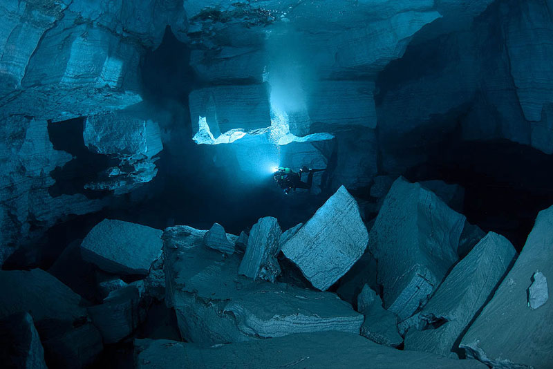 longest underwater cave in russia ordinskaya orda cave 14 Exploring the Longest Underwater Cave in Russia