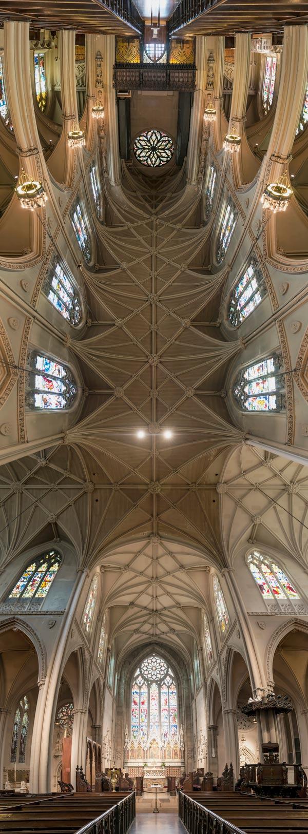 vertical panoramas of church ceilings 2 Amazing Vertical Panoramas of Church Ceilings