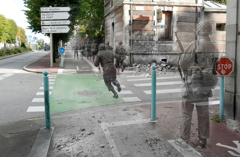 Ghosts of War: WWII Photos Blended Into Present Day