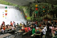 A Restaurant Beside a Waterfall