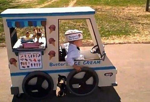 wheelchair ice cream truck costume 23 Funny and Creative Halloween Costumes