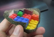3D Printed LEGO Block Blended into a Chipped Step