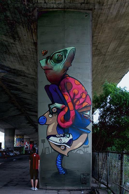 bezt kamelone warsaw poland 2011 etam cru street art Colossal Street Art by Sainer and Bezt