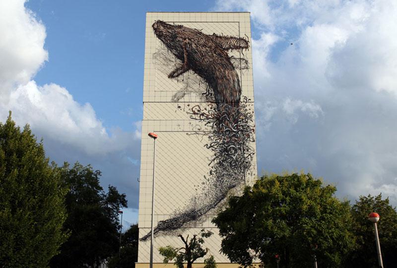 daleast cmelun france2011 Twisted Metal Street Art Murals by DALeast