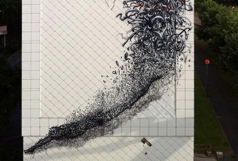 daleast cmelun france2011m Twisted Metal Street Art Murals by DALeast