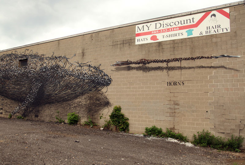 daleast discount evolutionrochester ny usa 2012 7 Twisted Metal Street Art Murals by DALeast
