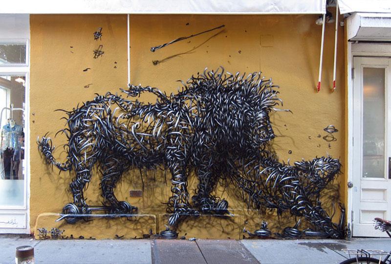 daleast meteors lnew york city usa2012 Twisted Metal Street Art Murals by DALeast