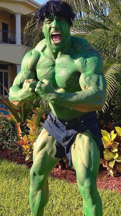 dwayne the rock johnson as incredible hulk The 40 Best Halloween Costumes of 2012